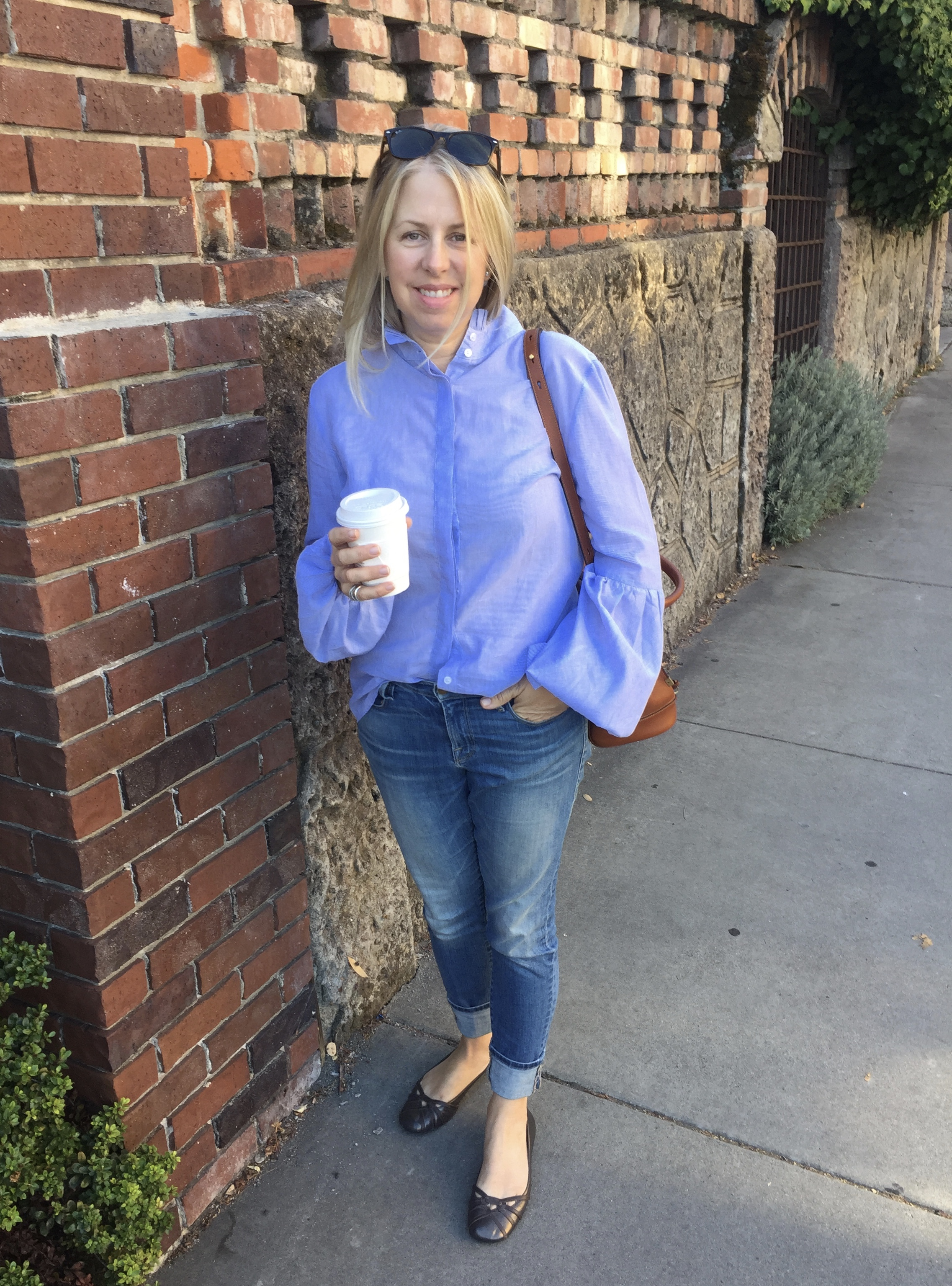 The Perfect Early Fall Piece -Blue Striped Shirts