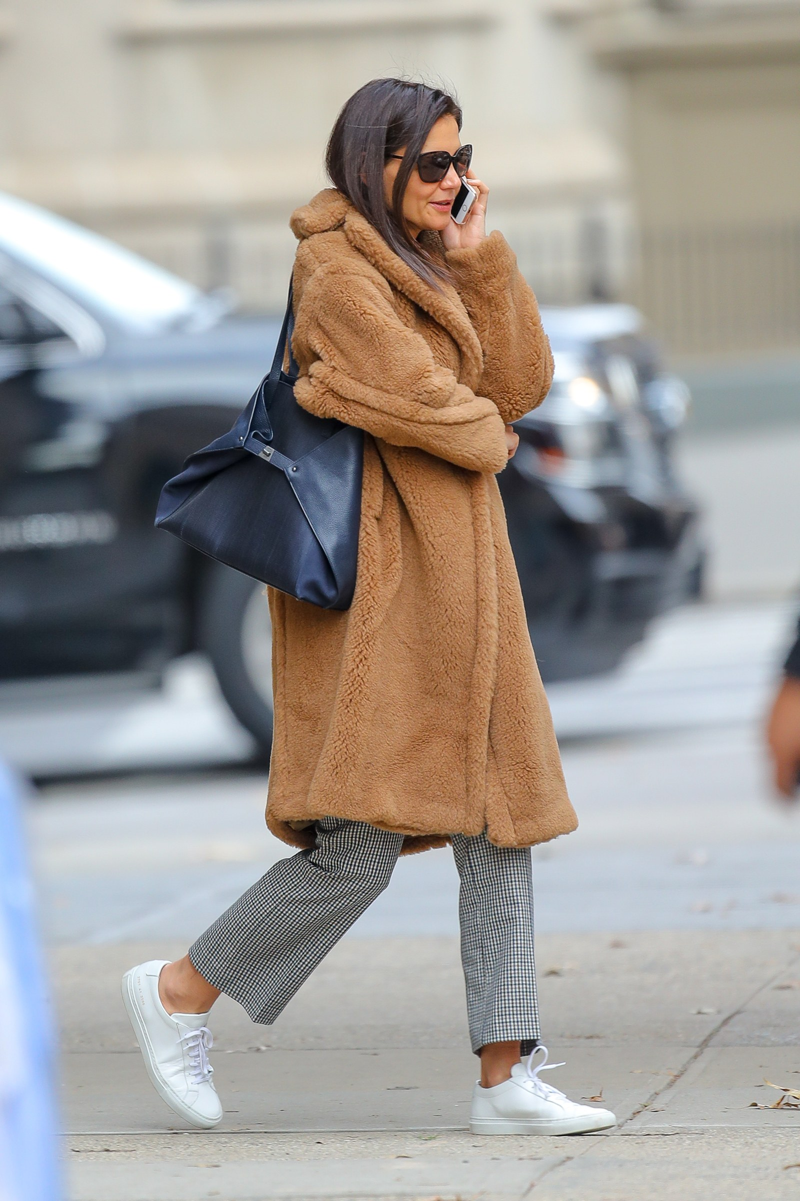 Katie Holmes Teddy Coat- Chic Piece of the Week