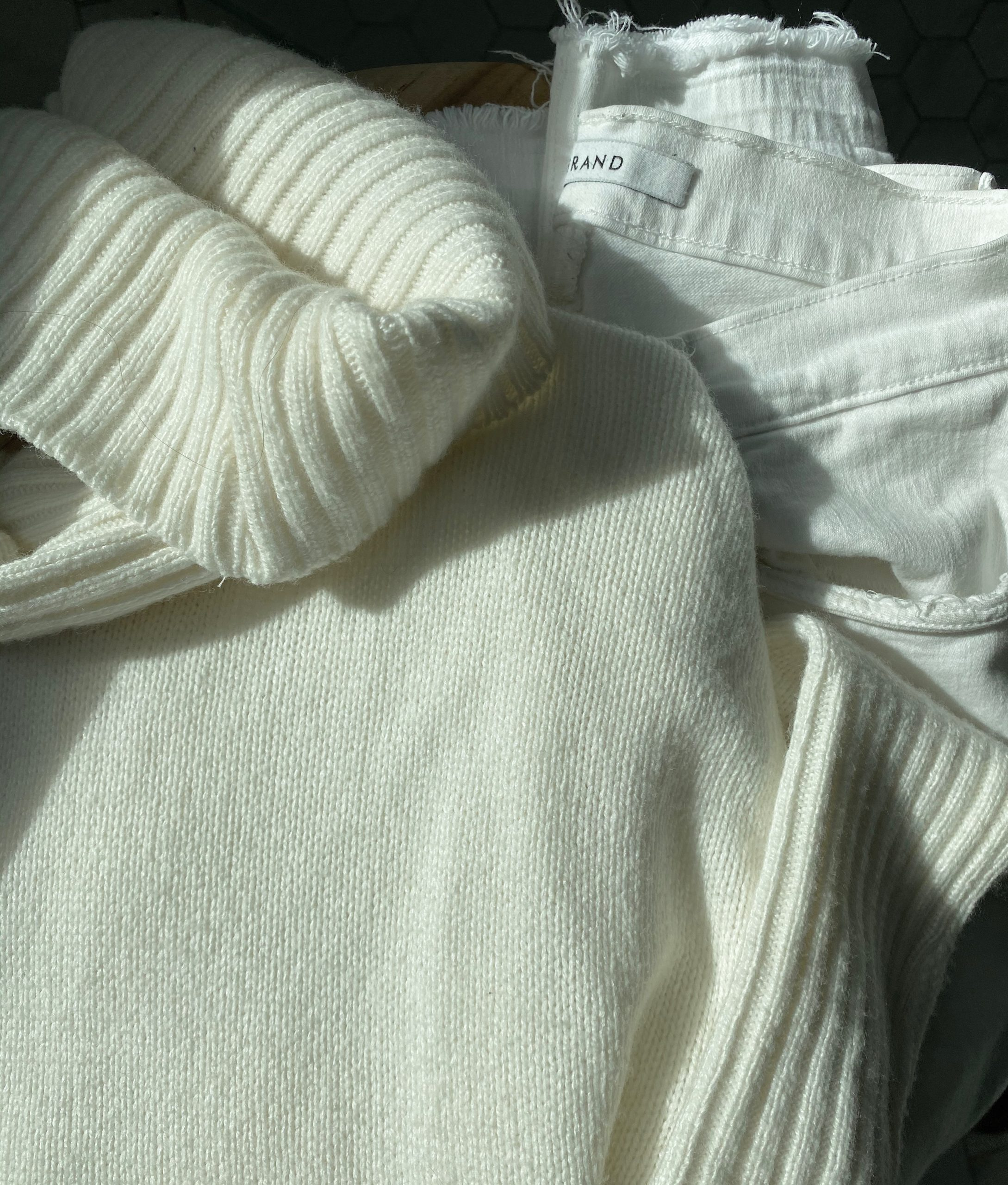 Winter White Jeans for an Uplift